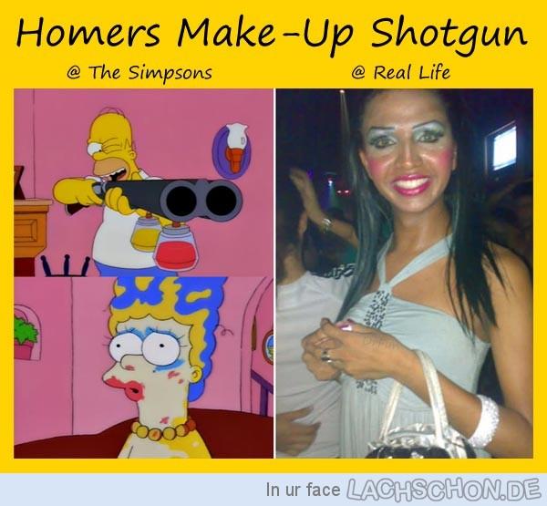 homer make up gun