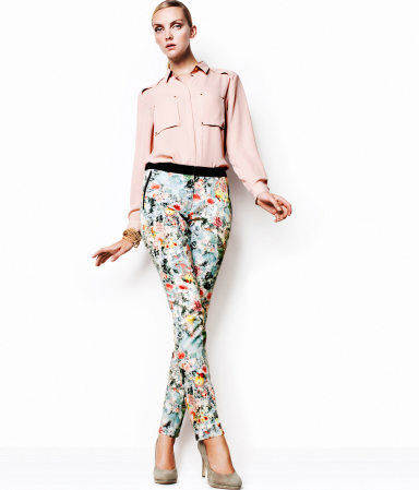 pantaloni fiori